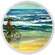 Along The Surf Round Beach Towel