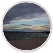 Along The Water Round Beach Towel