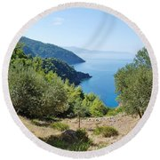 Alonissos Island Round Beach Towel