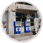 Alonissos Petrol Station Round Beach Towel
