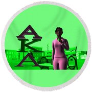 Alpha Sister Round Beach Towel