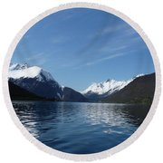 Alpine Mirror Round Beach Towel