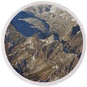 Alps - The Bowl Round Beach Towel