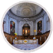 Alter At St Martins Cathedral Round Beach Towel