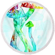 Altered Visions I Round Beach Towel