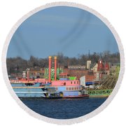 Alton Belle Casino Round Beach Towel by Peggy Franz
