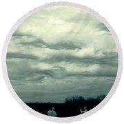 Altostratus Undulatus Asperatus Clouds Round Beach Towel