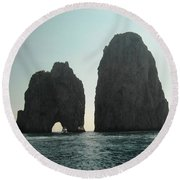 Amalfi Horizon Round Beach Towel
