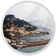 Amalfi Italy Round Beach Towel