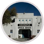 Amargosa Opera House Death Valley Img 0021 Round Beach Towel