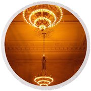 Amazing Antique Chandelier - Grand Central Station New York Round Beach Towel