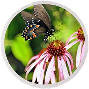 Amazing Butterfly Round Beach Towel by Marty Koch