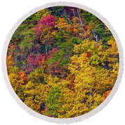 Amazing Cloudland In The Fall Round Beach Towel