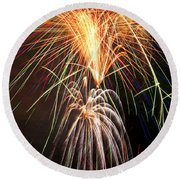 Amazing Fireworks Round Beach Towel