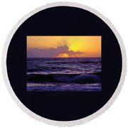 Amazing - Florida - Sunrise Round Beach Towel