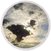 Amazing Sky Round Beach Towel