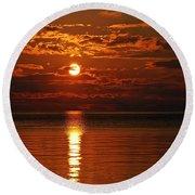 Amazing Sunset Round Beach Towel