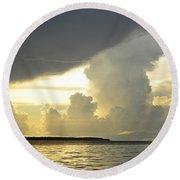 Amazon River Landscape Round Beach Towel