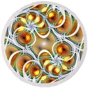 Amber Clusters Round Beach Towel