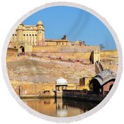 Amber Fort - Jaipur India Round Beach Towel
