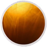 Amber Shades Round Beach Towel