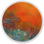 Amber Winter Round Beach Towel