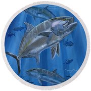 Amberjack In0029 Round Beach Towel