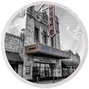 Ambler Theater In Ambler Pennsylvania Round Beach Towel