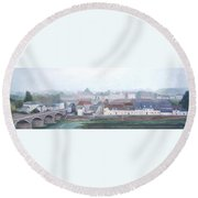 Amboise And The Loire River France Round Beach Towel