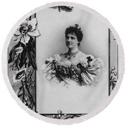 Amelie Of Portugal (1865-1951) Round Beach Towel