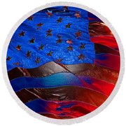 America Rising Round Beach Towel