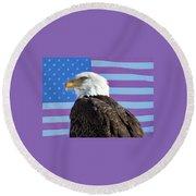American Bald Eagle 2 Round Beach Towel