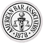 American Bar Association Round Beach Towel