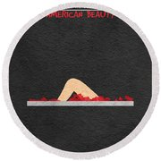 American Beauty Round Beach Towel