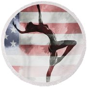 American Beauty Round Beach Towel
