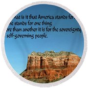 American Belief Round Beach Towel