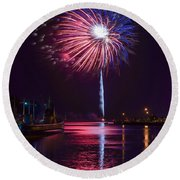 American Celebration Round Beach Towel by Bill Pevlor