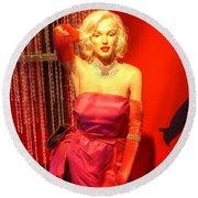 American Cinema Icons - Norma Jean Round Beach Towel