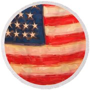 American Colours Round Beach Towel