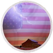 American Country Storm Round Beach Towel