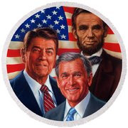 American Courage Round Beach Towel