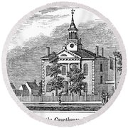 American Courthouse, 1844 Round Beach Towel