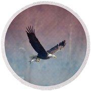 American Eagle Round Beach Towel