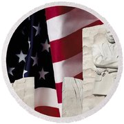 American Excellence Round Beach Towel