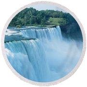 American Falls Niagara Falls Ny Usa Round Beach Towel