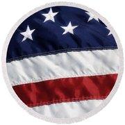 American Flag Round Beach Towel by Jill Lang