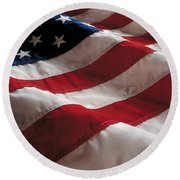 American Flag Round Beach Towel by Jon Neidert