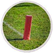 American Football Field Marker Round Beach Towel