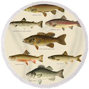 American Game Fish Round Beach Towel