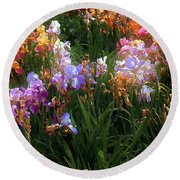 American Giverny Round Beach Towel
